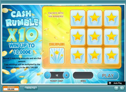 jeux carte a gratter cash rumble