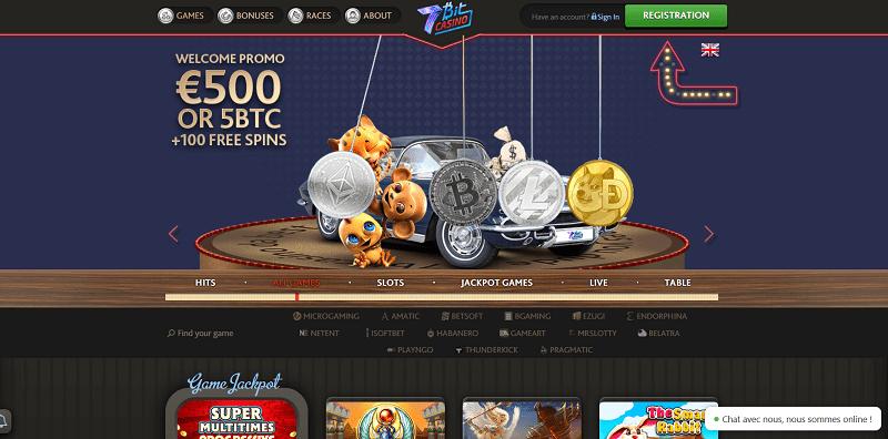 7Bit Casino, de nouveaux fournisseurs, son offre passe à plus de 2000 jeux