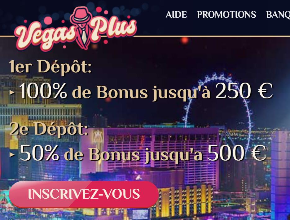 bonus de bienvenue VegasPlus