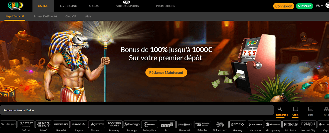 casino en ligne spin million