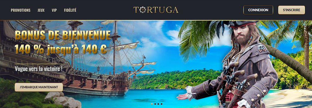 Tortuga casino interface accueille