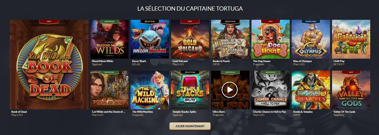 gamme de jeu casino en ligne Tortuga