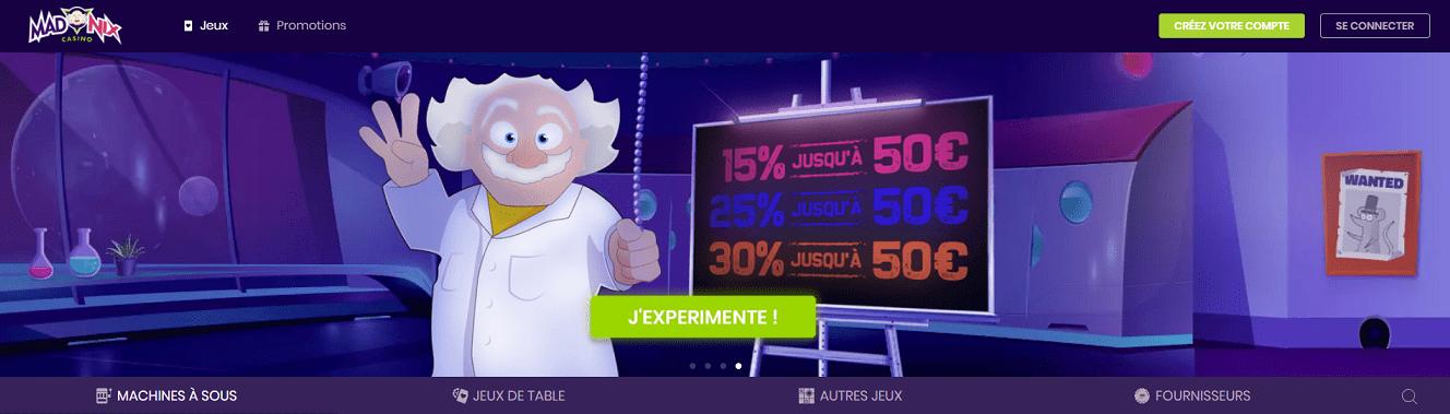 casino en ligne Madnix