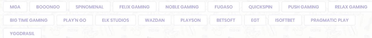 fournisseurs de jeux présents sur Madnix Casino