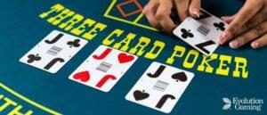 evolution gaming Triple Card Poker
