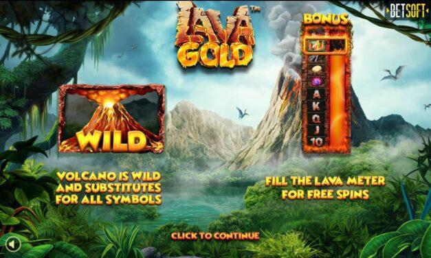 Explosion de gains imminente sur Lava Gold de Betsoft