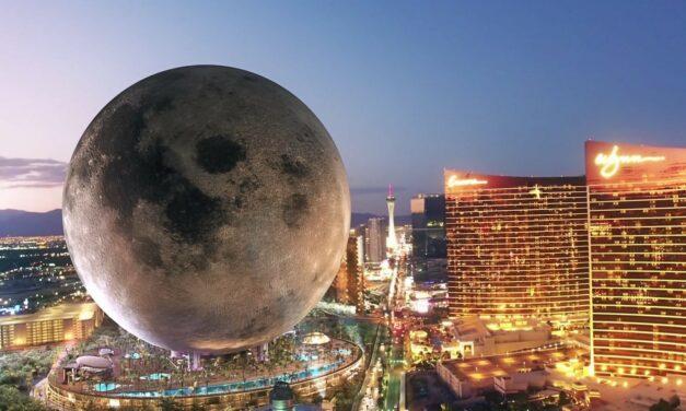 Un complexe inspiré de la lune sur le Strip de Las Vegas